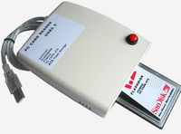 Wholesale NEW PCMCIA Flash Disk card Reader ATA Memory Card To USB 2.0 Adapter Converter