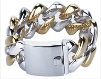 Boutique new titanium bracelet gold silver stainless steel jewelry  fashion all-match titanium men's bracelet