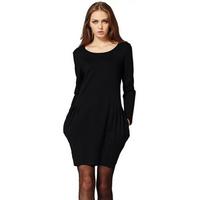 2014 European Style Long Sleeve Fitness Mini Autumn Dress Women Brief Plus Size Body Black Vestidos Femininos 1456