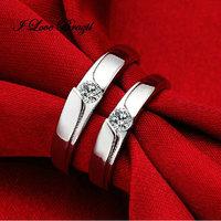 925 Sterling Silver Clear Topaz Gemstone Engagement Wedding Ring,Men Women Ring,Free Shipping