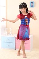 2015 Lace Dream Dress Long Frozen Costumes Girl Elsa Dress Princess Anna Dress Summer Free Shipping