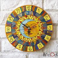 Retro Canvas Cartoon Cute  womens face baby's room Needle Round Lock Wall art hang Quartz Art Clock Picture