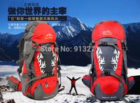 Free Shipping Men Women Professional Climbing Backpacks Red Camping Hiking Backpack Rucksack Travel Bags Nylon Waterproff 50L HQ