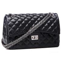 New female bag 2014 new tide black Sheepskin grain rhombic baodan shoulder bag Messenger bag wholesale A21