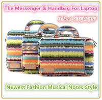 "Pop Musical Notes Laptop Messenger,Handbag,Sleeve Case For Laptop 13"",14"",15 inch, Bag For MacBook, Wholesales,Drop Free Ship."