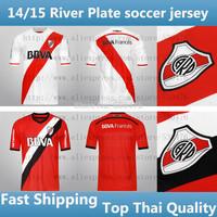 Top Thai Quality new 14 15 River Plate soccer jersey short sleeve 2015 River Plate BALANTA CAVENAGHI VANGIONI football shirt