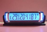 High quality fashion mini car auto vehicle backlight thermometer temperature hygrometer clock time