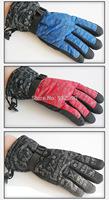Fashion prints, waterproof, anti-skid, thick warm winter ski gloves.Both men and women