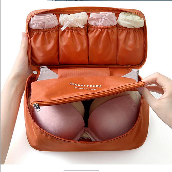 Designer 2015 Fashion Casual Travel Bags Tote Handbags Waterproof Organizer Storage Bags Underwear Bra Makeup Cosmetic bags(China (Mainland))