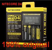 2014 New Nitecore D4 Digicharger LCD Display Battery Charger Universal NiteCore Charger Fit Li-ion/LifeP04/Ni-MH/Ni-Cd Batteries