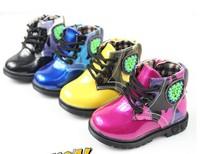 fashion kids baby boys girls children cotton sport shoes flroal lac up zip PU leather skateboard shoes fashion sneakers 21-25