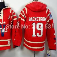 2014 New Washington 19 Nicklas Backstrom NHL Men Ice Hockey Hoodies Jersey Hockey Hooded