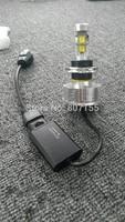 1Pair Newest Led H4 Headlight High Power Cree COB LED Light High Beam Head Lamp Bulb Auto Headlamp Xenon White 9003 HB2 4800LM