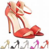 2014  sandals women Flash sandal sexy summer Sandals peep-toe high heels brand sandalies femininas shoes us 4.5-10.5