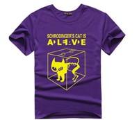 Printed tee 2015  t shirt women's t-shirt Short Sleeve fashion women tees Schrodinger's cat O-neck tops T25