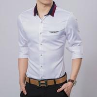 2014 new hot high quality fashion men's long-sleeved business shirt/men's dress shirt size:M-XXL Free Shipping