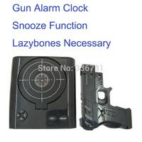 NEW arrival High quality Laser Gun Shooting Target Alarm Clock Fun Toy Game Clock model NO.GL908