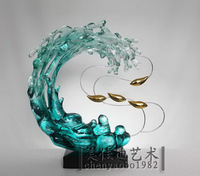 2014 new design of resin abstract plating sculpture home ornaments