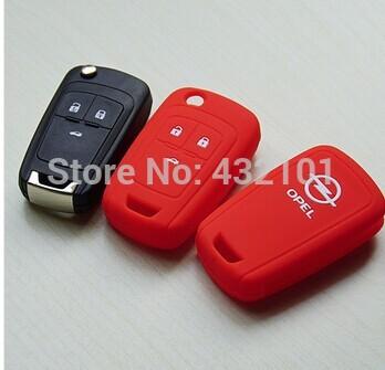 silicone protection covers for Opel Astra Corsa Antara Meriva Zafira Insignia key case shell stickers man's woman's key chain(China (Mainland))
