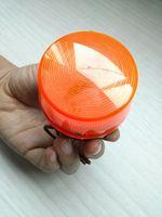 Orange DC12V or DC24V  double pole xenon strobe light flash lamp  free shipping China post