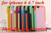 Wholesale 10pcs/lot Colorful PC+TPU Cell Phone Case For iPhone 6 4.7inch 8 colors Free Shipping