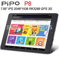 New 7.85 Inch 2048x1536 IPS PIPO P8 3G Tablet PC GPS RK3288 Quad Core 2GB RAM 32GB HDMI OTG Bluetooth dual cameras
