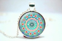 10pcs/lot Mandala Jewelry  Mandala Pendant  Mandala  Glass Photo Cabochon Necklace