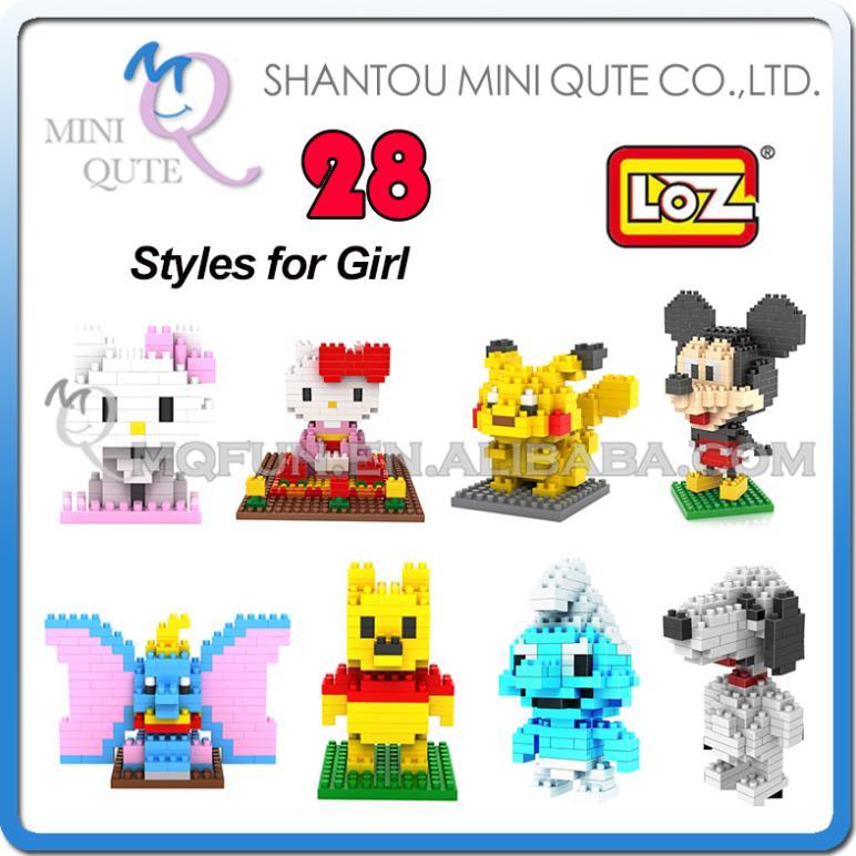 Детское лего Qute LOZ nano hello kitty 3D 00002 детское лего gz toys 3d as show