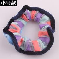 The new autumn/winter double-color headdress flower Han edition cloth art hair band Multicolor fluffy hair bands High-end hair