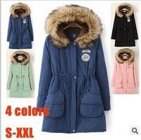 2014 Europe Popular New Brand Autumn and Winter Wear Long Hooded Coats Women Coats TSP1653