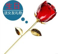 Birthday gift girls romantic male diy Christmas Christal Rose Love explain