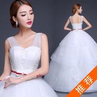 Maternity bride wedding Formal dress winter fashion 2014 double-shoulder V-neck wedding Plus size high waist vestido de noiva
