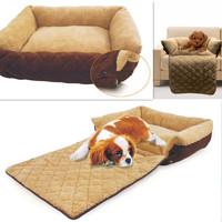 Color Cozy Soft Warm Fleece Pet Dog Puppy Cat Bed House Nest with Plush Mat Pad