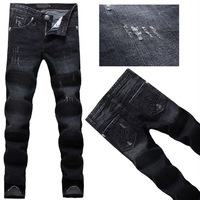 Free Shipping!The height of quality!famous brand jeans P mens fashion jeans skull pants classic brand pants plus size 28-38 N151