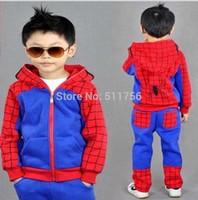 Spiderman Children Clothing set spider-man boys sport suit hooded jacket + pants kids Sweatshirt track suit Autumn clothes