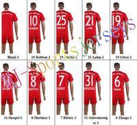Free shipping-2014/15 Season #19 Gotze Home jersey&short,Soccer team uniforms