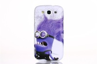 For Samsung Galaxy S3 SIII I9300 S 3 III Case Cute Cartoon Model Despicable Me Yellow Minion Cover Cases+Free Screen Protector
