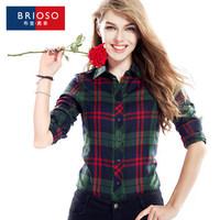 Winter thermal brioso2014 plus velvet plaid shirt female long-sleeve thickening plus size shirt XXXXL14111603