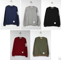 High Quality !  Winter Mens designer clothes Brand THOM BROWN basic models Striped sleeves Casual couple  sweater