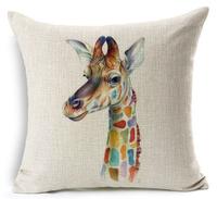 giraffe cushion cover for sofa car decorate animal home decor pilow cover