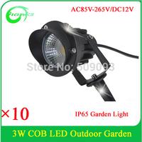 DC12V/AC85-265V  3W COB LED Landscape Light Garden Wall Yard Path Pond Flood 3W COB Spot Light Outdoor IP65 With Spikes
