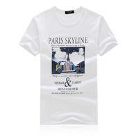 2014 summer men's short-sleeved round neck Korean men's short-sleeved t-shirt printing men's t sleeves Factory Direct 1811