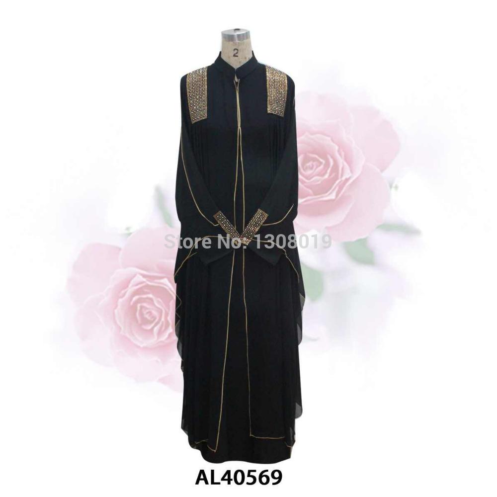 dubai abaya caftan 2014 automne polyester spandex islamiques vêtements musulmans robe à manches longues pour les femmes 2 pcs dhl ou cadeau écharpe