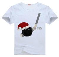 Hockey Christmas Boys Sports Tee t shirt for kid Boy Girl clothing  top  clothes cartoon tshirt Dress