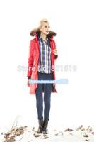 free shipping 2014 women long style down coat windproof waterproof warm slim down jacket women down parka