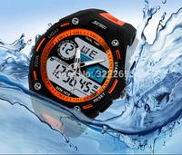 Skmei 1015 Men Sports Watches Military Watch Dual Time Digital Quartz Chronograph Jelly Swim Dive Dress Wristwatches 5color