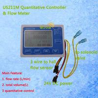 US211M Quantitative Controller Flow Rate Display Flow Rate Meter Digital Display Total Volume Free Shipping