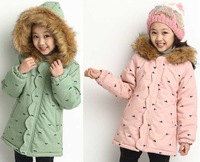 Hot sale thick warm Hooded children winter outwear,High quality baby girls winter coat,winter jacket for girls free shipping.