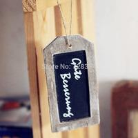 10pieces/lot Wooden Hanging Mini blackboard message/memo/decoration board vintage finsihing H38