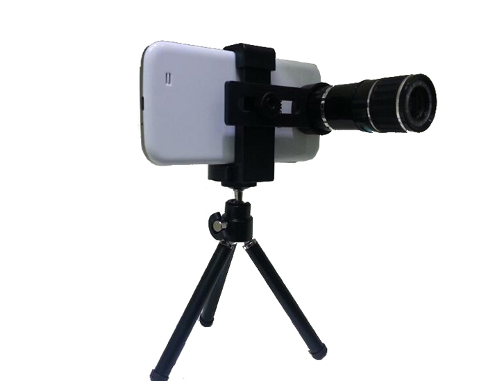 Universal 12x Magnification Mobile Phone Zoom Telescope Magnifier Optical Camera Lens For iPhone Samsung HTC Nokia(China (Mainland))